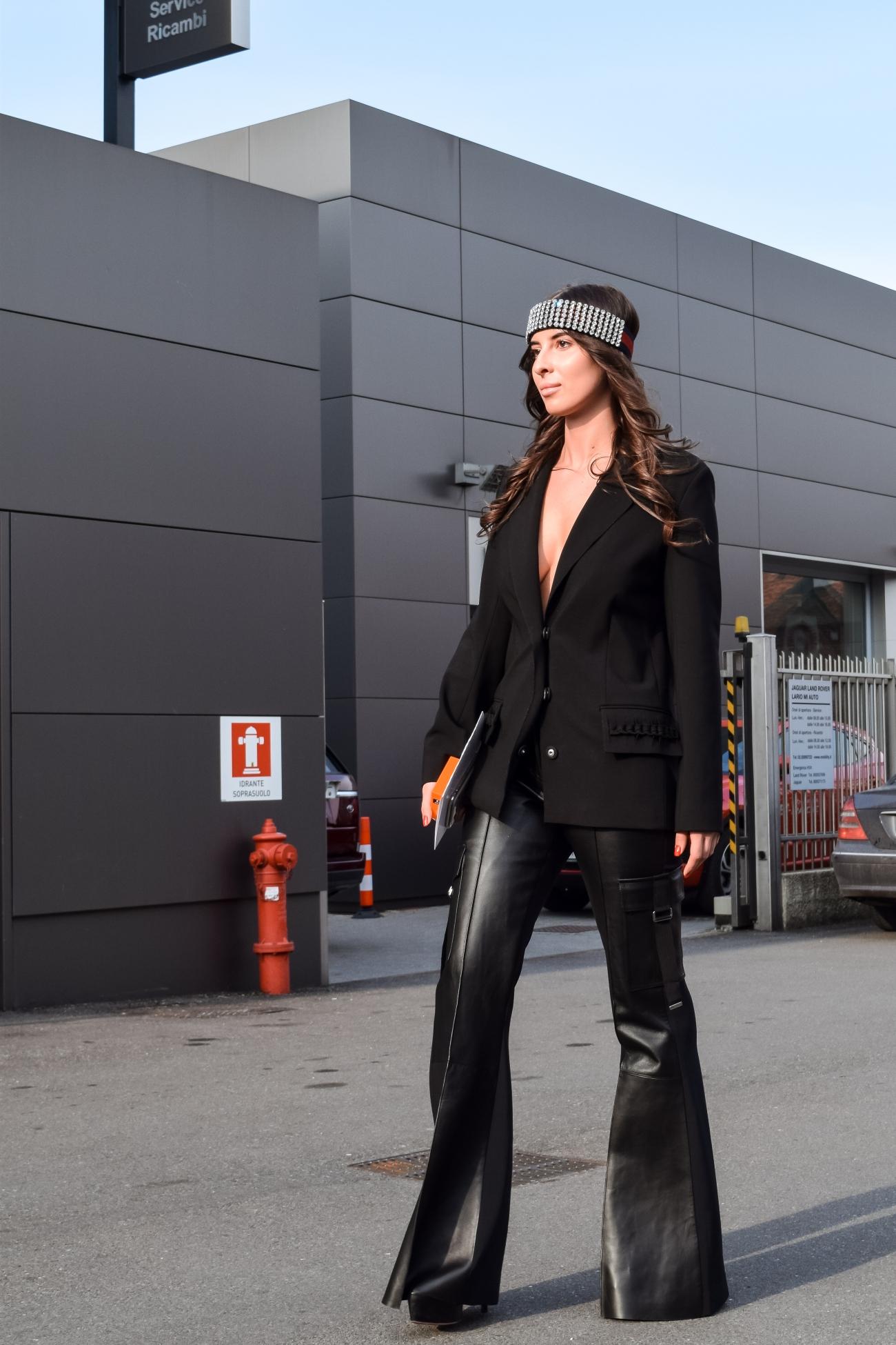 Street Style at Gucci show exit – Balázs Zsálek