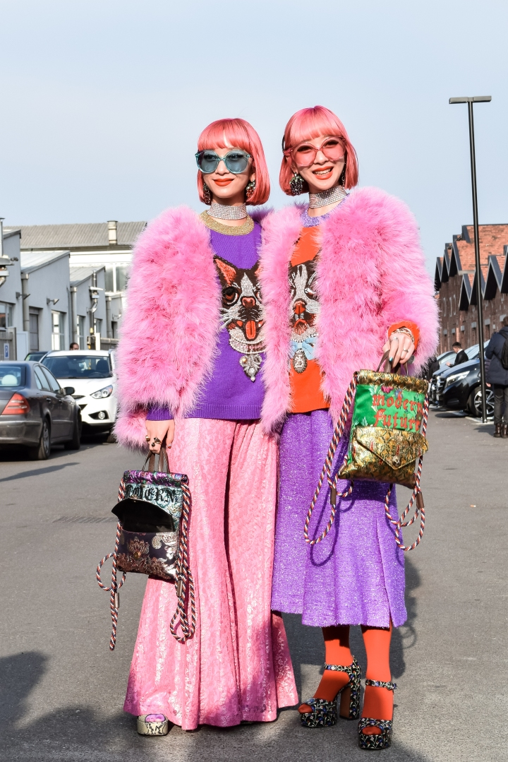 Street Style at Gucci show exit