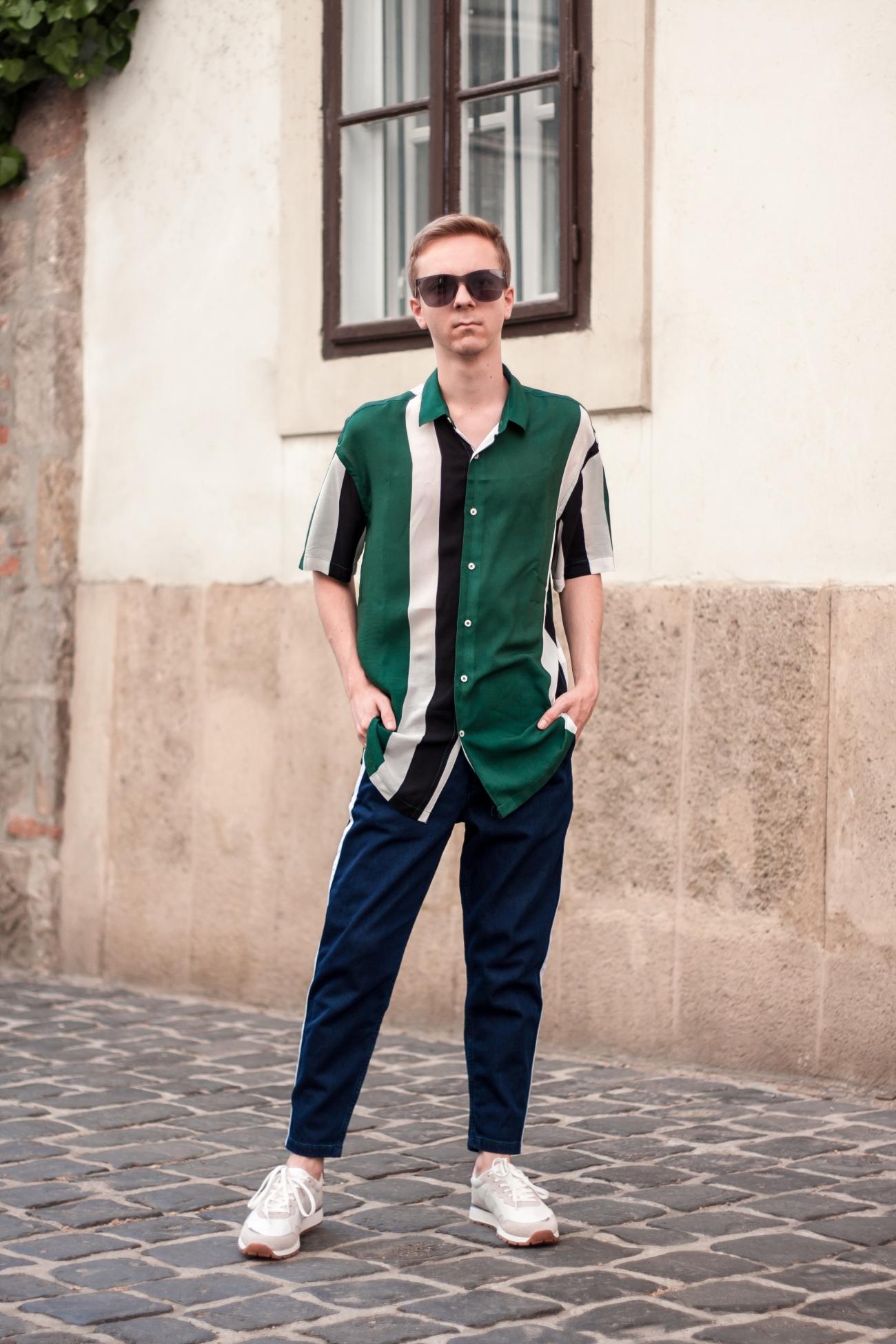 Colour Block Shirt With Acryl Sunglasses | Balazs Zsalek